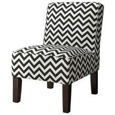 Burke Slipper Chair-Chevron