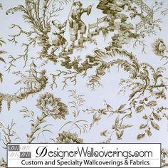 Asian Pagoda Toile Wallpaper  | Luxury Wallpaper |