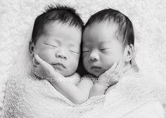 Newborn Twin Girls { Kailua studio newborn session } » Hawaii Newborn and Baby Portraiture by Simply Baby { Kailua & Honolulu, HI }
