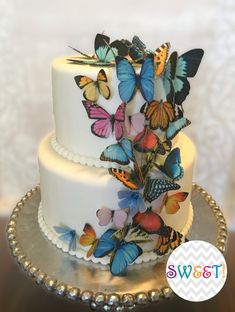 30 Edible Butterflies, Wafer Paper Double-Sided Toppers for Cakes, Cupcakes, Cookies or Drinks by SweetsandStuffNapa on Etsy Butterfly Birthday Cakes, Butterfly Cakes, Butterflies, Edible Cake Decorations, Paper Decorations, Butterfly Cutout, Butterfly Party, Butterfly Wedding, Fireworks Cake