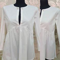 #camicia #bianca #cotone #carre #perle #valeria #abbigliamento