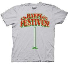 Seinfeld Happy Festivus For the Rest of Us Light Gray Adult T-shirt #holiday #christmas #festivus #seinfeld