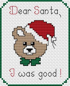 Free Cross Stitch Pattern – Santa I was Good