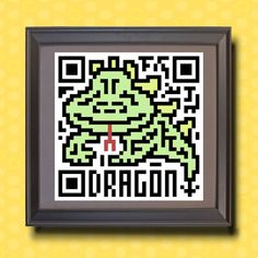 584 Dragon Asian zodiac animal as QR code by TwoBananasArt on Etsy, $20.00