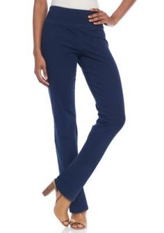 Kim Rogers  Petite Size Straight Denim Pull On Pants