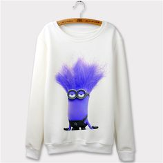 Harajuku 2015 Casual Autumn Hoodie Minion Print 3d Cartoon design Women Hoodies Sweatshirts Plus Size Moletom Feminino Sudaderas