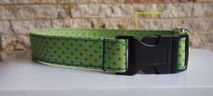 Halsband oder Leine oder Set grünblauer Fliegenpil von stitchbully.de für Hunde auf DaWanda.com