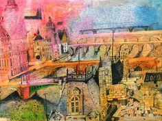 Christopher Tate Art - Paris Gallery | Christopher Tate Art | Cornish Artist Paris Images, Cityscapes, Buildings, France, Fine Art, Gallery, Illustration, Artist, Artwork