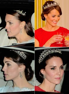 """crownprincesses: """"2013//2015//2016 ↬ Catherine, Duchess of Cambridge wears a tiara during official events """""""