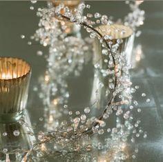120cm Long Faceted Crystal Ball Beaded Branch Wire Bead Garland Xmas Wedding DEC | eBay