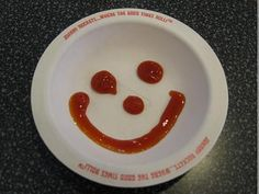 mmm Johnny Rockets Who doesn't love a place with giant burgers, endless fries, and ketchup that smiles at you? Ketchup, Fries, Decorative Plates, Pudding, Rockets, Eat, Burgers, Breakfast, Desserts