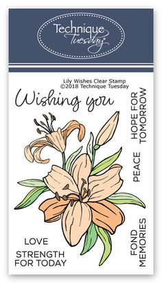 Check it out! Lily Wishes Stamp Set at Technique Tuesday. // TechniqueTuesday.com
