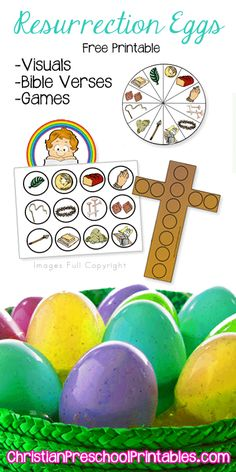 Resurrection Egg Printables & Games: