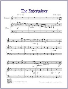 The Entertainer | Free Sheet Music for Easy Trumpet (THOMAS)