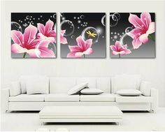Rhinestone painting crystal Home Decor DIY Diamond painting triptych flowers cross stitch pattern diamond embroidery gift Home Decor Pictures, Art Pictures, Large Canvas Wall Art, Canvas Art, 3 Canvas Paintings, Crystals In The Home, Decoupage Art, Panel Art, Painting Inspiration