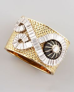 Rachel Zoe jewelry launched at Neimans. Check it out! Wide Crystal Bracelet by Rachel Zoe at Neiman Marcus.