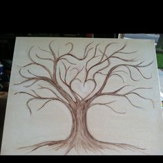 Thumb print tree wedding guest book!!!