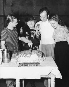 Mickey Rooney, Gertrude Berkeley, son Busby Berkeley & Judy Garland