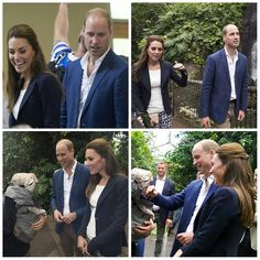 The Duke and Duchess of Cambridge have arrived at their Eden project at the Isles of Scilly. Kate is wearing a Smythe blazer and new trousers by GAP. 2 Sep 2016