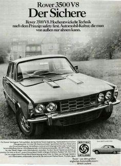 Rover P6b Mk2 magazine advert for Germany / Austria