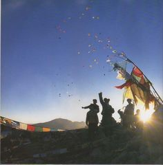 """""""Windhorses"""" in Lhasa, Tibet. From the book A Simply Path by His Holiness the Dalai Lama."""