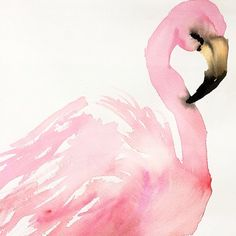 Happy Monday. This feathered friend is available for sale today. www.inslee.net framed, signed, original #Flamingo