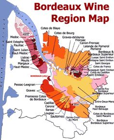Bordeaux Wine Region Map.     Get to grips with the best of Bordeaux.