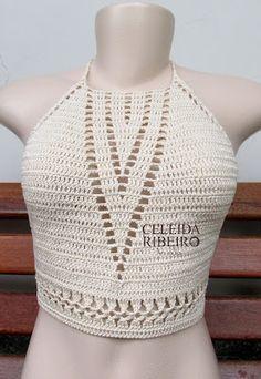 Celeida Ribeiro: Cropped de crochê!!