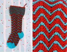 This gorgeous knit stocking from Vickie Howell is a great way to start a stocking knitting tradition in your family or to give as a gift to that friend who loves all things retro.