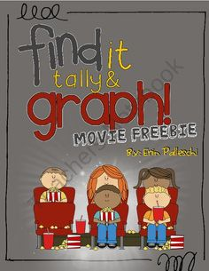 Find it, Tally & Graph - MOVIE FREEBIE! pages) - Get your kids tallying and graphing with this fun movie themed. Math Classroom, Kindergarten Math, Classroom Themes, Teaching Math, Movie Classroom, Teaching Ideas, Math Resources, Math Activities, Hollywood Theme Classroom