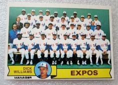 1979 OPC MONTREAL EXPOS TEAM CHECKLIST BASEBALL CARD! UNMARKED EX-N/M. #MontrealExpos