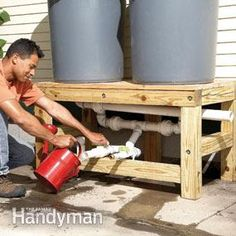 How to Build a Rain Barrel. Wonder if I could get hubby interested in building this for my garden...
