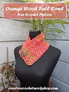 Orange Wood Fall Cowl | Creative Crochet Workshop