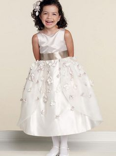 Vestido de daminha Maçã Fino com Cinto Estilo formais
