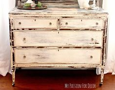 My Passion For Decor: Dresser Makeover using Miss Mustard Seed Milk Paint