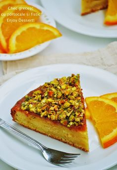 Orange & Pistachio Greek Cake