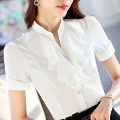 91d4f87dd3efa Encontrar Más Blusas y Camisas Información acerca de 2016 ropa mujer moda  corto manga del v