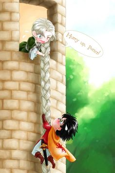 Draco as rapunzel??? Wow.....