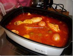 Estofado de Pollo cocinado en la Olla de Lento Cocimiento