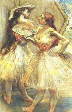 "Two Dancers by Edgar Degas (1834-1917) {Read ""The Painted Girls""}"