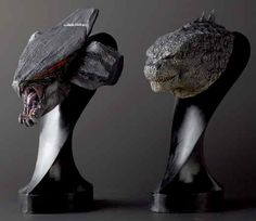 MUTO and GODZILLA busts from Gunsstudio, Japan