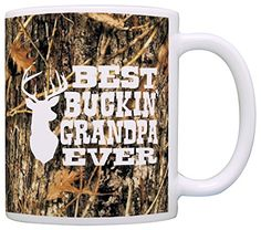 Grandpa Gifts Hunting Camo Best Buckin Grandpa Ever Gift Coffee Mug Tea Cup Camo *** You can find more details by visiting the image link.
