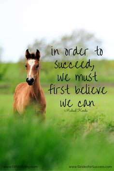In order to succeed, we must first believe we can - Michael Korda