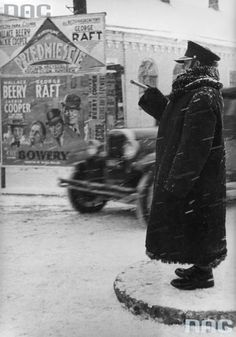 vintage everyday: Traffic Control in Krakow, Poland During the Nazi Occupation in 1941