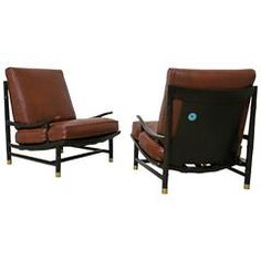 Rare Lounge Chairs by Frank Kyle with Pepe Mendoza Accents