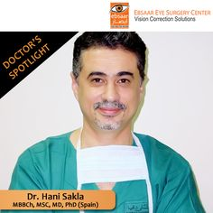 Dr. Hani Saka specializes as an eye surgeon; he was the first to implant the Toric Acrysof lens in the Gulf region.  يختص الدكتور هاني سكلا في جراحة العيون، و هو أول من قام بزراعة عدسة التوريك في إقليم  .الخليج  #Ebsaar #JumeirahBeachRoad #Jumeirah #MyDubai #UAE