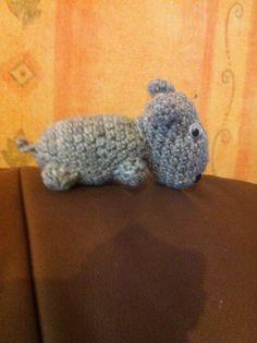 Petit amigurumi hippopotame