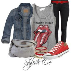 Super Ideas how to wear red converse style purses Chic Outfits, Fall Outfits, Fashion Outfits, Womens Fashion, Fashion Trends, Tomboy Outfits, Emo Outfits, Dance Outfits, Punk Fashion