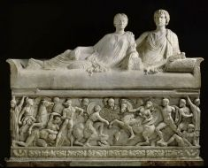 This is a 2nd century Roman Attic sarcophagus that was found in Thessaloniki, Greece in 1836 and was placed in the Louvre in 1884. It depicts the battle between the Greeks and Amazonian people during the Trojan War. I was interested in this because I find ancient Roman and Greek culture fascinating, and have actually been to the Louvre in France.