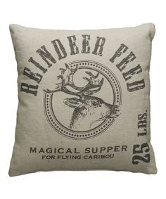 Take a look at this 'Reindeer Feed' Throw Pillow on zulily today!